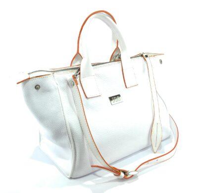 bolsos de piel blanco