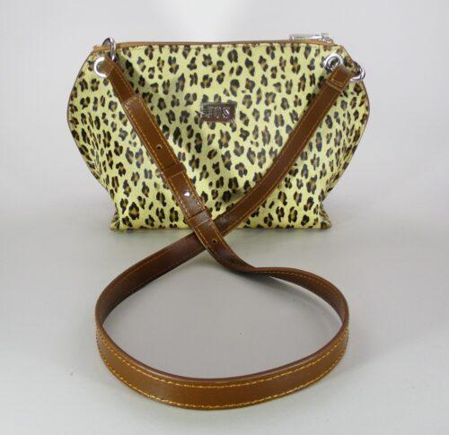 Bandolera de piel Dédalo leopardo