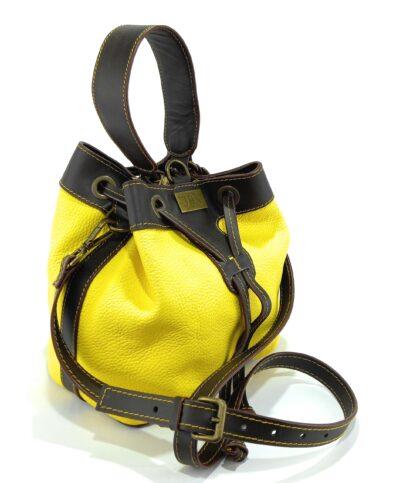 bolsos de piel amarillo