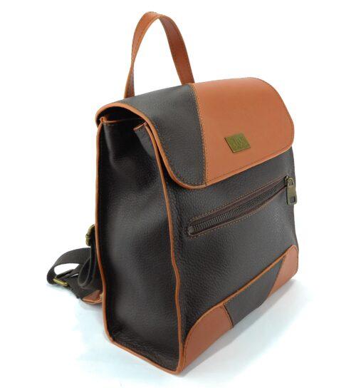 mochilas de piel marrón
