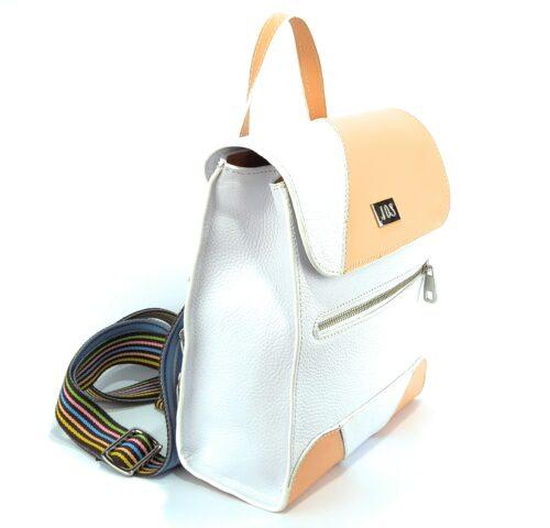 mochilas de piel blanca